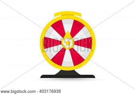 Roulette For Gambling And Win Jackpot. Colorful Wheel Of Luck Or Fortune. Online Casino, Spin And Wi