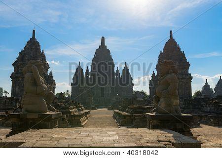 Entrance Candi Sewu Buddhist Complex In Java, Indonesia
