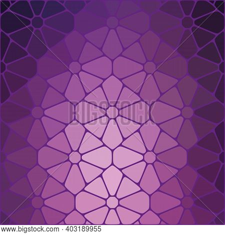 Geometric Abstract Background Bright Lilac Stones, Brochure Template Design Element, Poster