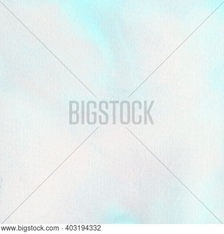 Watercolor Abstract Aqua For A Graphic Design Element For A Background Or Other Project.  Hand Paint