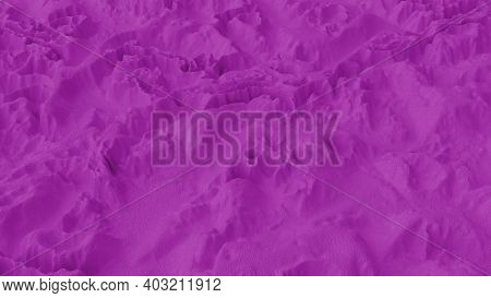 Abstract Minimalistic Background With Purple Noise Wave Field. Detailed Displaced Surface. Modern Ba