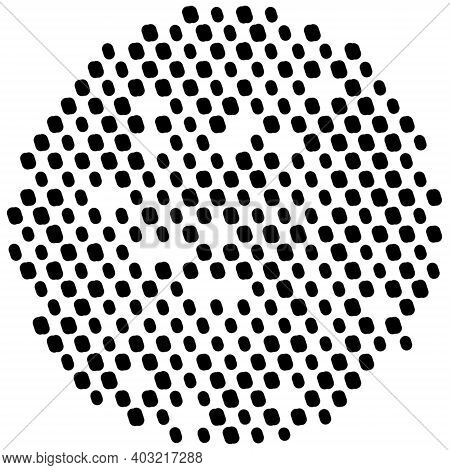 Simply Polka Overlay Stamp Texture For Your Design. Hand Made. Eps10 Vector.
