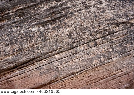 Diagonal Stresks Of Sandstone Layers In Capitol Reef National Park