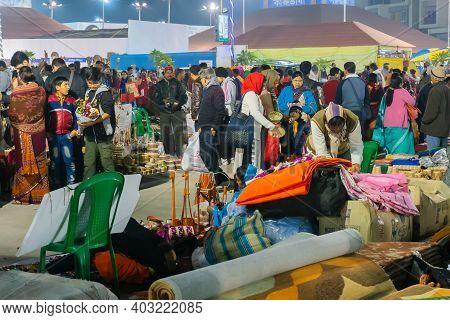 Kolkata, West Bengal, India - 31st December 2018 : Handicraft Products Being Sold At Hastashilpomela