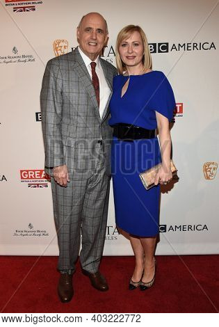 LOS ANGELES - JAN 7:  Jeffrey Tambor and Kasia Ostlun arrives for  BAFTA Los Angeles Tea Party 2017 on January 07, 2017 in Beverly Hills, CA