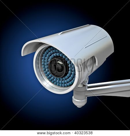 3d image of classic infrared cctv poster