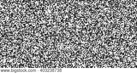 Tv Screen Noise Pixel Glitch Texture Background Vector Illustration. Analog Tv Static Video Noise. N