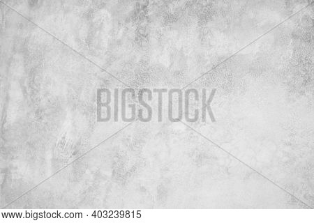 Close Up Retro Plain White Color Cement Wall Panoramic Background Texture For Show Or Advertise Or P