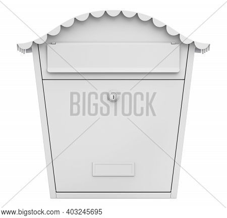 Clay Render Of Mailbox (post Box) Isolated On White Background - 3d Illustration