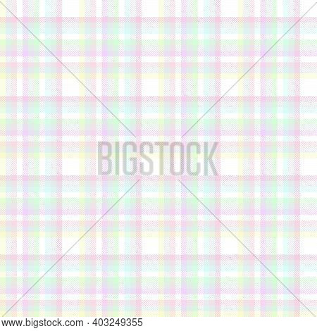 Rainbow Plaid Textured Seamless Pattern Collection