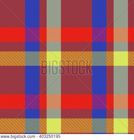 Colourful Plaid Textured Seamless Pattern