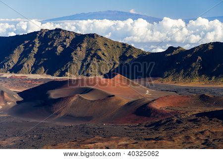 Colorful Cinder Cones Inside Haleakala Crater
