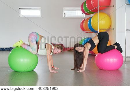 Woman Trainer In Fitness Club. Individual Training. Fitness And Health Concept. Healthy Body. Young