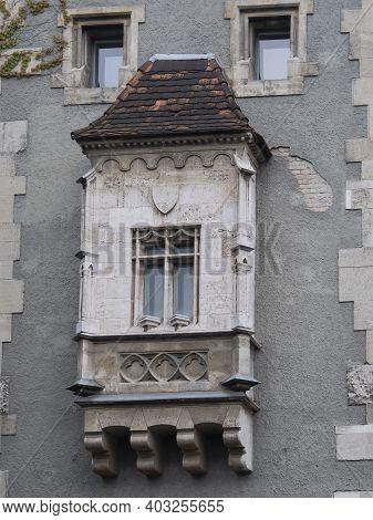 Close Up Of A Window Of Vajdahunyad Castle In Budapest