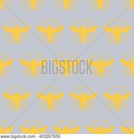 Beehive Hexagon Pattern Texture Design. Vector Illustration.