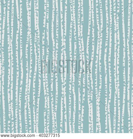 Textured Uneven Thick Lines Background. Seamless Striped Pattern. Endless Ornament With Wavy Irregul