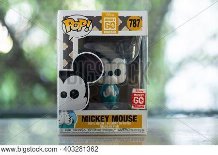 Bangkok, Thailand - January 14, 2021 : Figure Model Of Funko Pop! Mickey Mouse, A World's Famous Cha