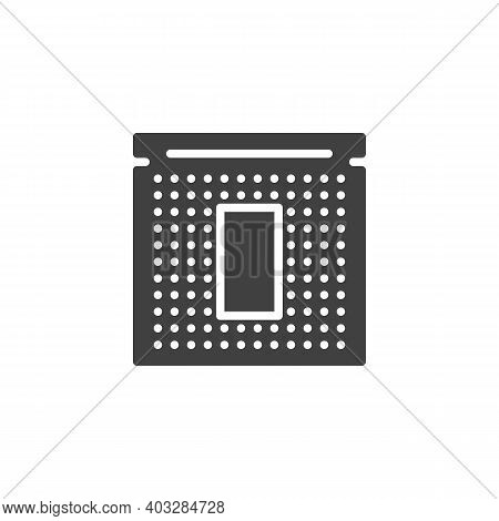 Cpu Processor Chip Vector Icon. Filled Flat Sign For Mobile Concept And Web Design. Microprocessor G