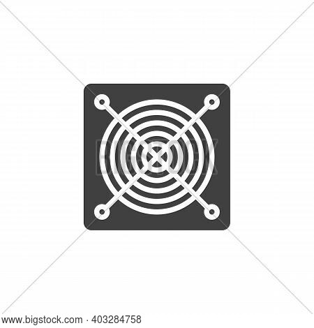 Power Supply Unit Vector Icon. Filled Flat Sign For Mobile Concept And Web Design. Power Supply Glyp