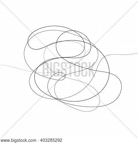 Hand Drawn Scrawl Sketch. Abstract Scribble, Chaos Doodle. Vector Illustration Isolated On White Bac