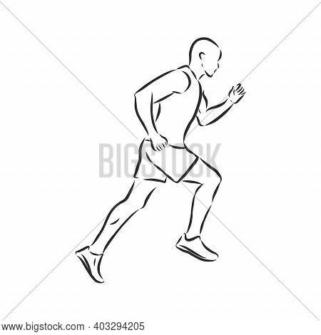 Vector Illustration. Illustration Shows A Athlete. Running Man. Sport. Athletics. Running Man Vector
