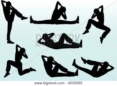 People Aerobic Poses