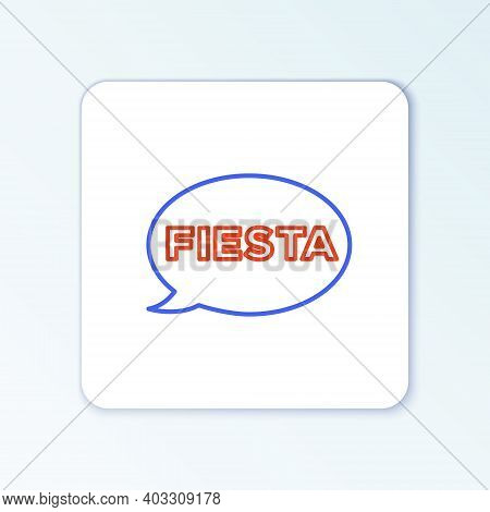 Line Fiesta Icon Isolated On White Background. Colorful Outline Concept. Vector