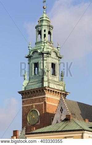 Krakow, Poland - January 10, 2021 : 11th Century Wawel Cathedral, Coronation Place Of Polish Kings O