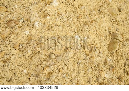 Closeup Of Clay Of Sedimentary Clay And Shingle Of Omarama Clay Cliffs And Amazing  Pinnacles That A