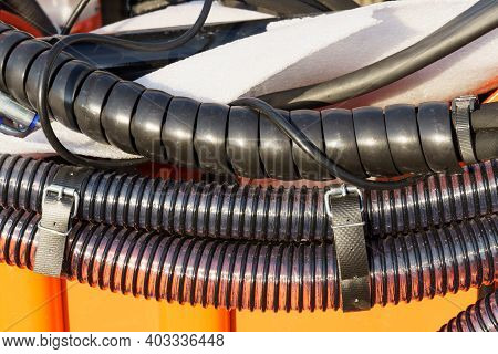 Wrapped Oil Pipes And Corrugated Pipes Of Agricultural Drill.