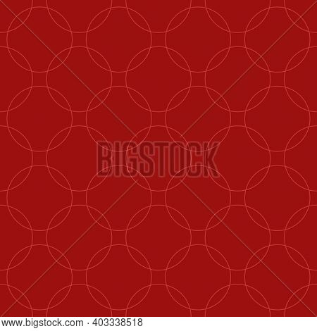 Seamless Abstract Intersecting And Repeating Modern Red Circles