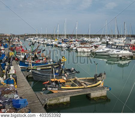 Brighton, East Sussex, Uk, June 2019 - View Of Boats In The Marina In Brighton, East Sussex, Uk