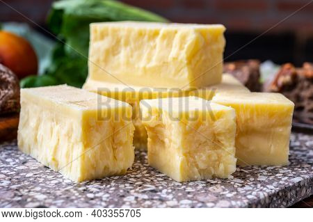 Cheese Collection, Pieces Of Aged British Cheddar Cheese