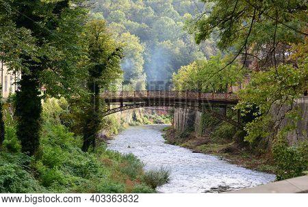 Baile Herculane Town Romania Cerna River Landscape