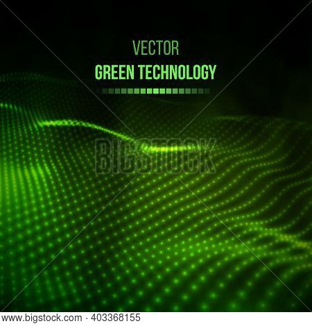 Green Technology Background. Green Energy Vector Illustration Eps10. Team Communication Concept Gree