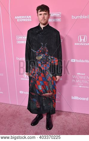 LOS ANGELES - DEC 12:  James Blake arrives for the Billboard's 2019 Women in Music on December 12, 2019 in Hollywood, CA