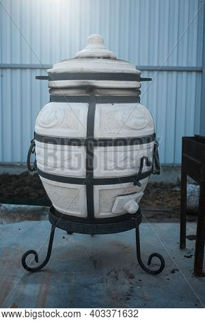 Ceramic Tandoor. A Tandoor - An East Ceramic Furnace For Cooking Outdoors. Eastern Cuisine