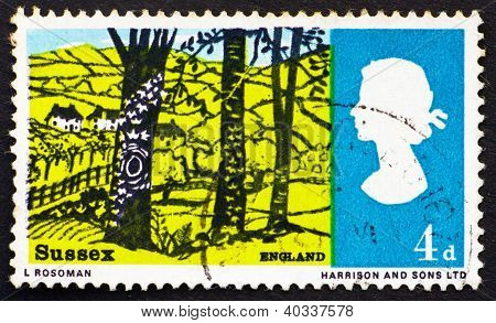 Postage stamp GB 1966 Landscape near Hassock, Sussex