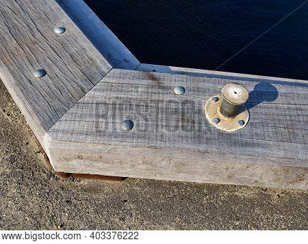 Metal Strong Mooring Anchoring Point - Great Maring Sailing Boating Background Image
