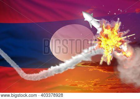 Lao People Democratic Republic Intercepted Supersonic Warhead, Modern Antirocket Destroys Enemy Miss