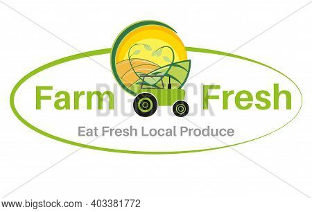 Eat Local Produce Fresh From Farm To Fork Vector Illustration On A White Background - Sustainable Lo