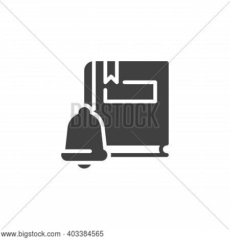 Education, Knowledge Vector Icon. Filled Flat Sign For Mobile Concept And Web Design. Ebook Notifica