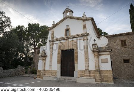 Church Of El Calvario, Calvary In English. It Is Located In The City Of Pollensa, In The Northern Pa
