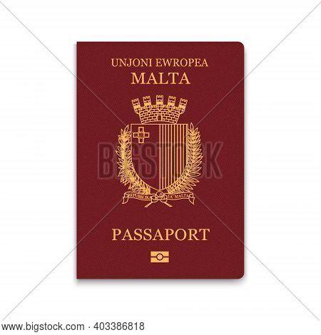 Passport Of Malta. Citizen Id Template. Vector Illustration
