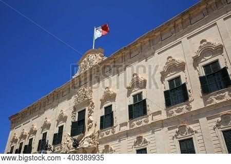 Auberge De Castille In Valletta - The Office Of The Prime Minister Of Malta