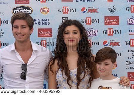 Giffoni Valle Piana, Sa, Italy - July 24, 2018 : Cast Tv Series Heidi Bienvenida : Chiara Francia, T