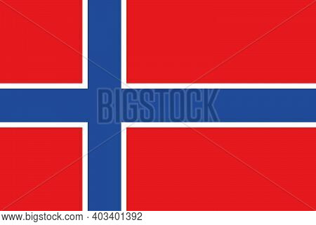 The National Flag Of The Country Is Norway. Norwegian Flag. Norwegian State Symbol. The Currency Of