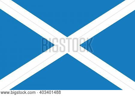 National Flag Of The Country Of Scotland. Scottish Flag. Scottish State Symbol. A Constitutional Mon