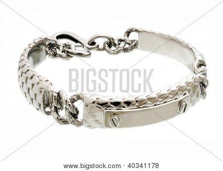 male bracelet isolated on white