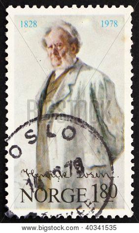 Postage stamp Norway 1978 Henrik Ibsen
